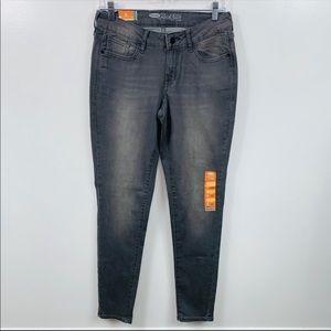 NEW Old Navy Gray Rockstar Super Skinny Jeans 8